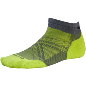 Smartwool PhD Run Light Elite Low Cut Socks Herre graphite/sw green